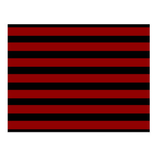 Red and Black Thick Striped Layer Pattern Post Cards