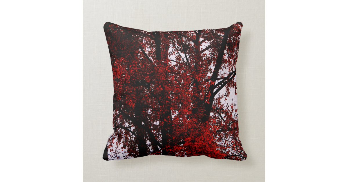 Red and Black Throw Pillow Zazzle