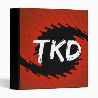 Red and Black TKD Hurricane Binder