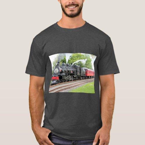 Red And Black Train Dark Grey T_Shirt