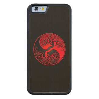 Red and Black Tree of Life Yin Yang Carved® Maple iPhone 6 Bumper Case