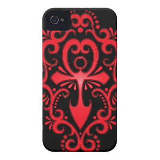 Red and Black Tribal Ankh iPhone 4 Covers