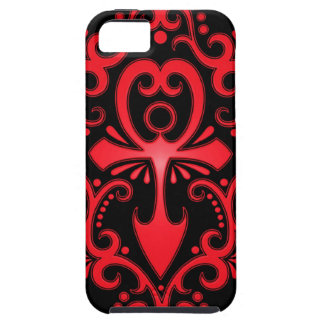 Red and Black Tribal Ankh iPhone 5 Case