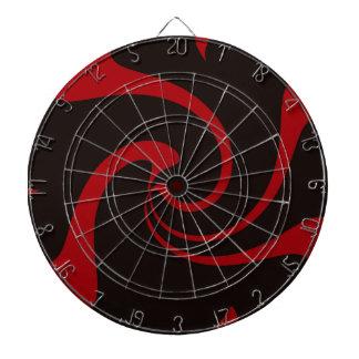 Red and Black Twist Dart Board