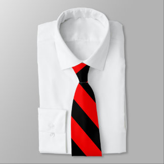 Red and Black University Stripe Tie