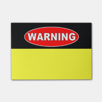 Red and black warning sign post-it® notes
