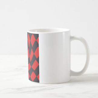 Red and Black Warp Checkerboard Coffee Mug