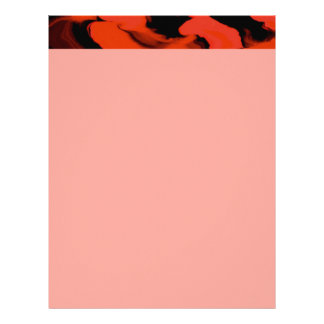 Red and Black Waves Letterhead