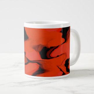 Red and Black Waves Jumbo Mug