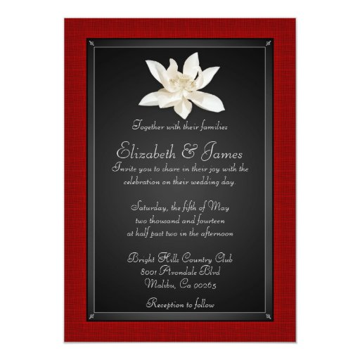 red and black wedding invitations and black wedding invitations zazzle 6992