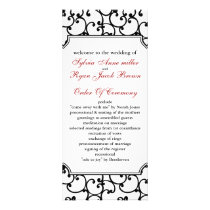 red and black Wedding program