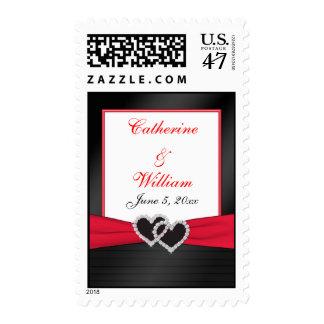 Red and Black WeddingPostage Stamp