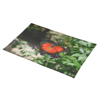 Red and Black Winged Butterfly Placemat