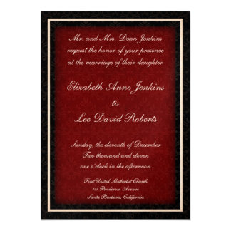 Red and Black Winter Wedding Invitations