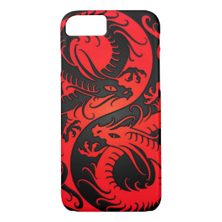 Red and Black Yin Yang Chinese Dragons iPhone 8/7 Case