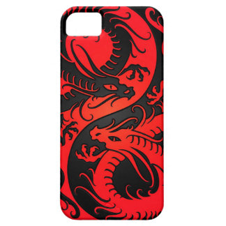 Red and Black Yin Yang Chinese Dragons iPhone SE/5/5s Case