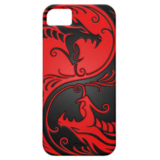 Red and Black Yin Yang Dragons iPhone 5 Cover