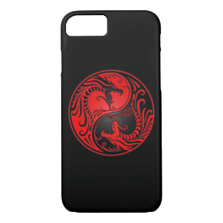 Red and Black Yin Yang Dragons iPhone 7 Case