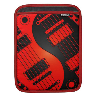 Red and Black Yin Yang Guitars Sleeve For iPads