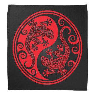 Red and Black Yin Yang Lizards Bandana