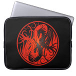 Red and Black Yin Yang Phoenix Computer Sleeve