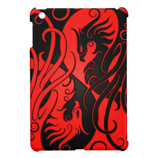 Red and Black Yin Yang Phoenix iPad Mini Case