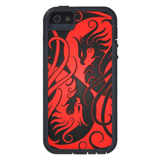 Red and Black Yin Yang Phoenix iPhone 5 Cases