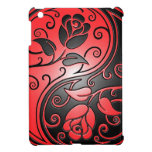 Red and Black Yin Yang Roses iPad Mini Cover