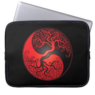 Red and Black Yin Yang Tree Computer Sleeves