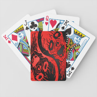 Red and Black Yin Yang Zombies Bicycle Playing Cards