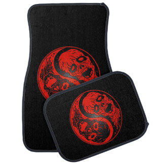 Red and Black Yin Yang Zombies Car Floor Mat