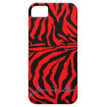 Red and Black Zebra Phone Case