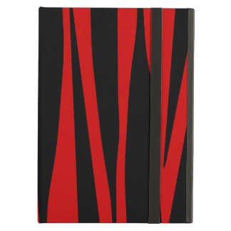 Red and Black Zebra Stripes Animal Pattern iPad Air Cover