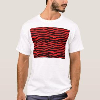 Red and Black Zebra Stripes T-Shirt