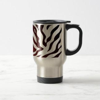 Red and Black Zebra Stripes Travel Mug