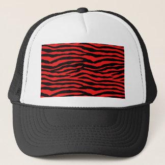Red and Black Zebra Stripes Trucker Hat