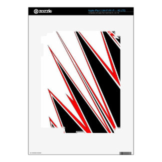Red and Black zig-zag Design from AOM iPad 3 Skin