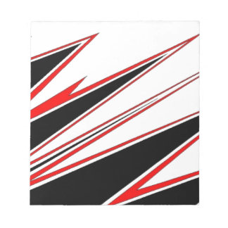 Red and Black zig-zag Design from AOM Notepad