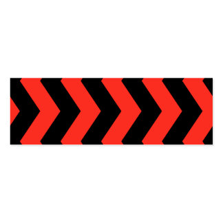 Red and Black Zig Zag Pattern Mini Business Card