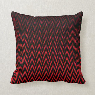 Red and Black Zigzag Design Throw Pillow