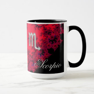 Red and Black Zodiac Sign Scorpio Mug