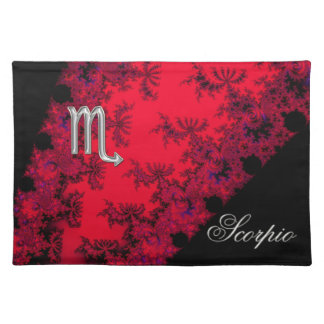 Red and Black Zodiac Sign Scorpio Placemat