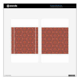 red and blackholiday print flower decals for kindle fire
