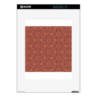 red and blackholiday print flower iPad skin
