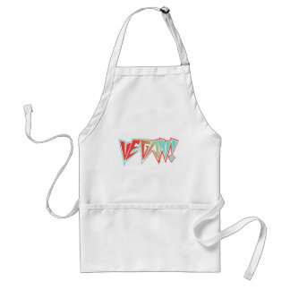 Red and Blue 1980s Rocker Vegan Adult Apron