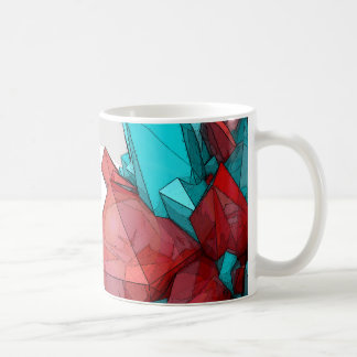 Red and Blue Abstract Crystal Mug