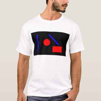 Red and blue abstract geometric T-Shirt