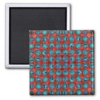 Red And Blue Abstract Magnet
