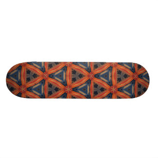 Red and Blue Abstract Pattern Skateboard