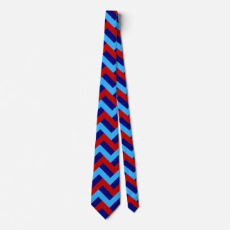 RED AND BLUE ALL OVER! (zigzag color pattern) ~.jp Tie
